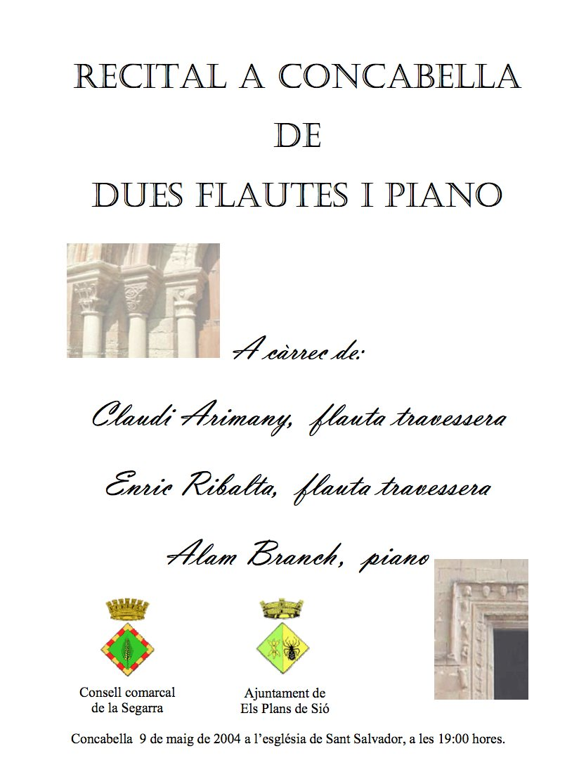 Cartell del Festival de Música al Castell 2004