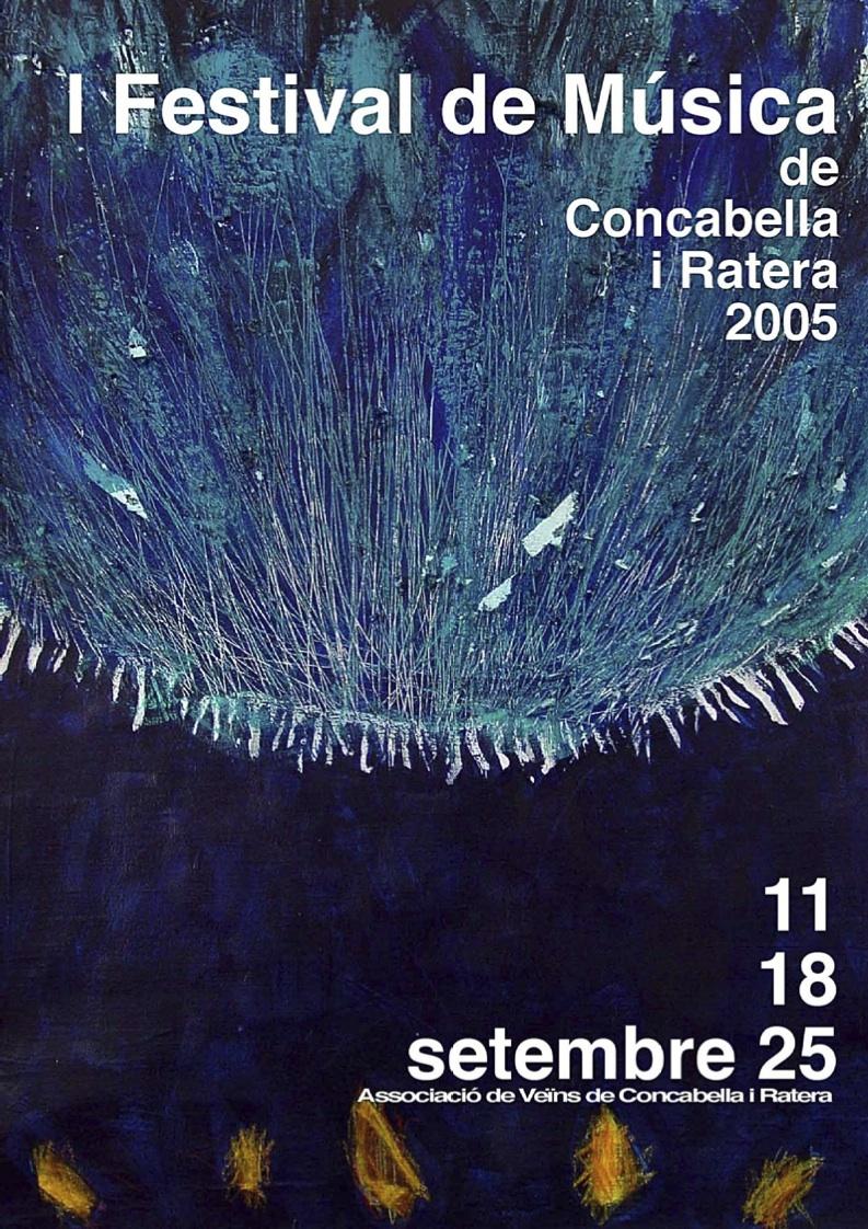 Cartell del Festival de Música al Castell 2005