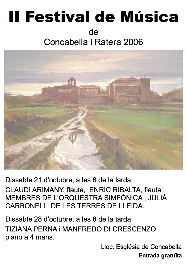 Cartell del Festival de Música al Castell 2006