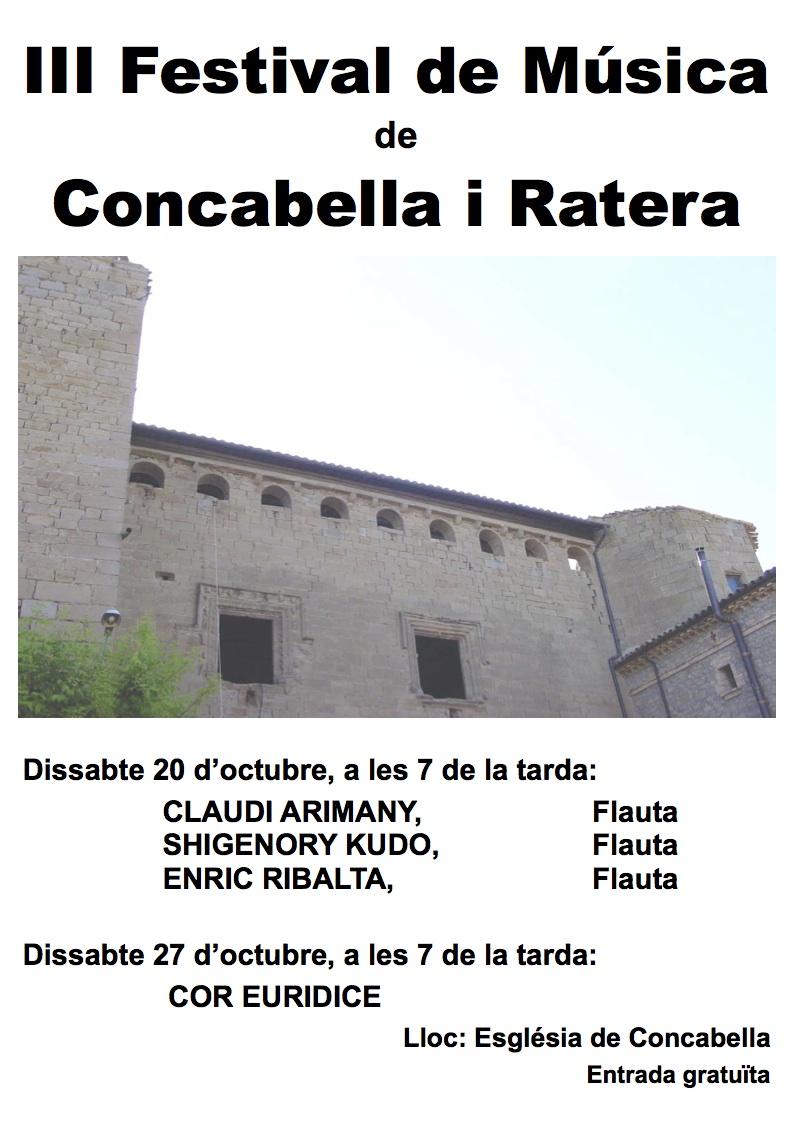 Cartell del Festival de Música al Castell 2007